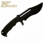 Preview: TS BLADES RAPTOR G3 GRIP BLACK PARACORD DUMMY KNIFE