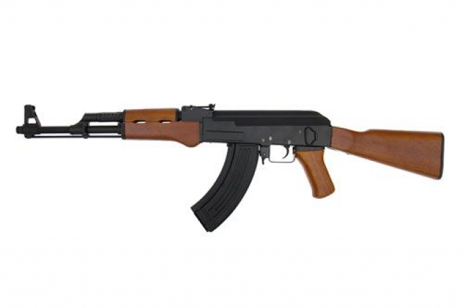 Cyma AK47 CM042 Assault Rifle Black Echtholz 0,5 Joule AEG
