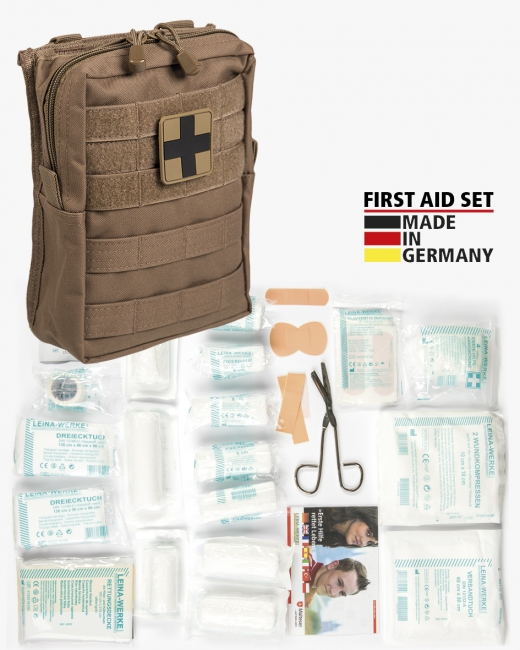FIRST AID SET ′LEINA′ PRO.43-TLG.LG DARK COYOTE
