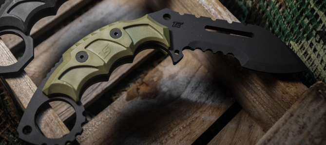 TS CHACAL GRIP RANGER GREEN DUMMY KNIFE