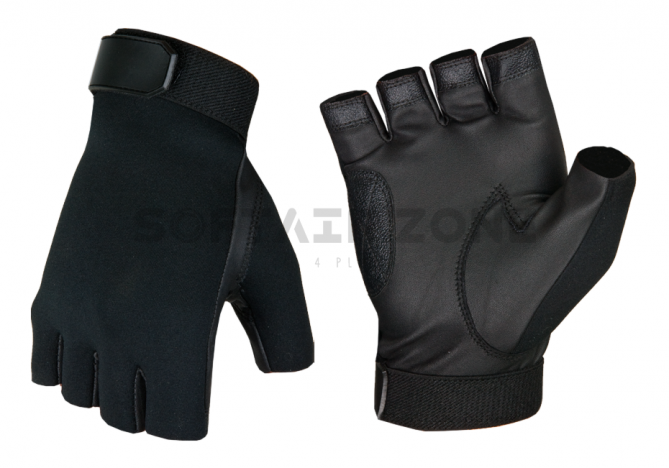Invader Gear Half Finger Shooting Handschuhe Black L